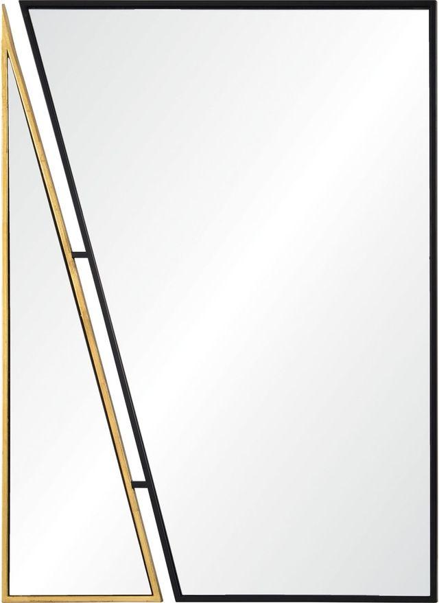 Miroir Idiom, feuille d'or/noir, Renwil®-MT2245