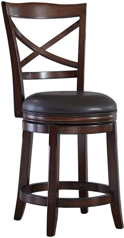Millennium® By Ashley Porter Rustic Brown Counter Height Bar Stool-D697-424
