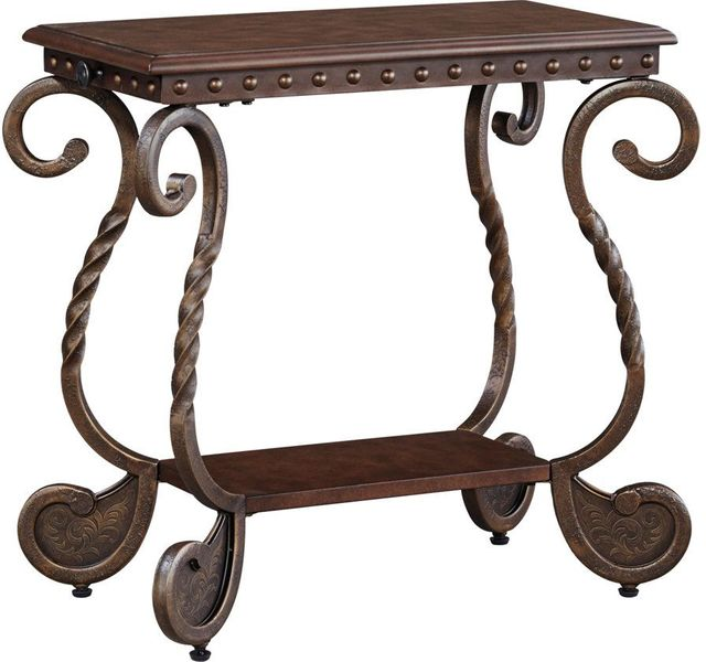 Signature Design by Ashley® Rafferty Dark Brown Chair Side End Table-T382-7