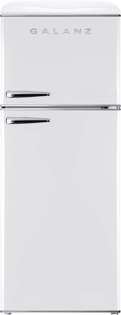 Galanz 12 Cu. Ft. Milkshake White Retro Top Mount Refrigerator-GLR12TWEEFR