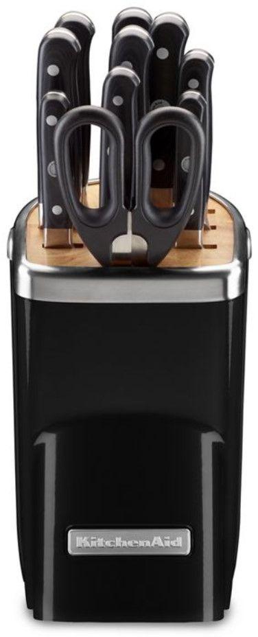 KitchenAid® Professional Series 11 Piece Onyx Black Cutlery Set-KKFMA11OB
