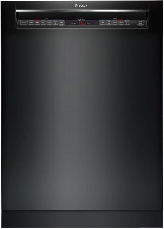 "Bosch 800 Series 24"" Black Built In Dishwasher-SHEM78Z56N"