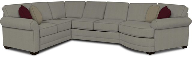 England Furniture Co. Brantley 4 Piece Culpepper Cement/Alvaro Mineral/Martin Teal Sectional-5630-28-22-43-95+8612+8642+8601