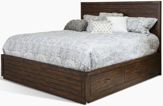 Sunny Designs Tuscany Vintage Mocha Queen Storage Bed-2318VM-SQ