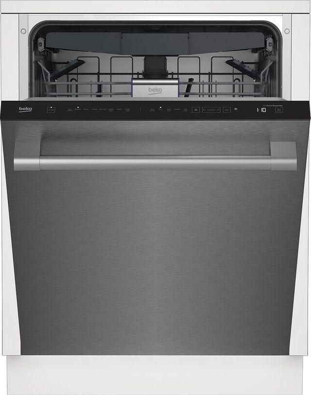 """Beko 24"""" Fingerprint Free Stainless Steel Built In Dishwasher-DDT38530X"""