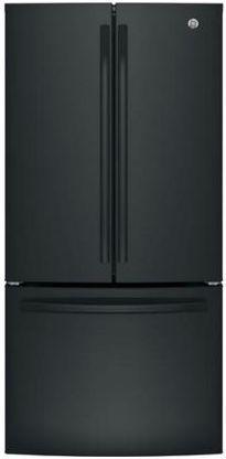 GE® Series 24.8 Cu. Ft. French Door Refrigerator-Black-GNE25JGKBB