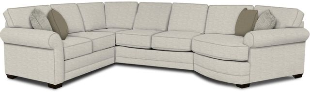 England Furniture Co. Brantley 4 Piece Culpepper Snow/Alvarado Mineral/Buckhead Earth Sectional-5630-28-22-43-95+8613+8330+8601