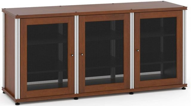 Salamander Designs® Synergy Model 337 AV Cabinet-Dark Cherry/Aluminum-SB337C/A