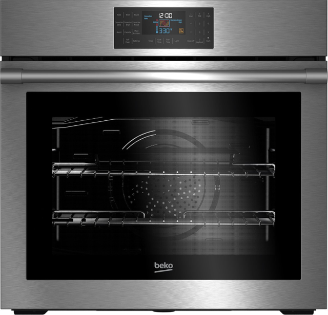 """Beko 30"""" Fingerprint Free Stainless Steel Electric Built in Single Oven-WOS30100SS"""