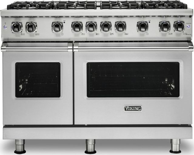 """Viking® Professional 5 Series 48"""" Pro Style Dual Fuel Range-Stainless Steel-VDR5488BSS"""