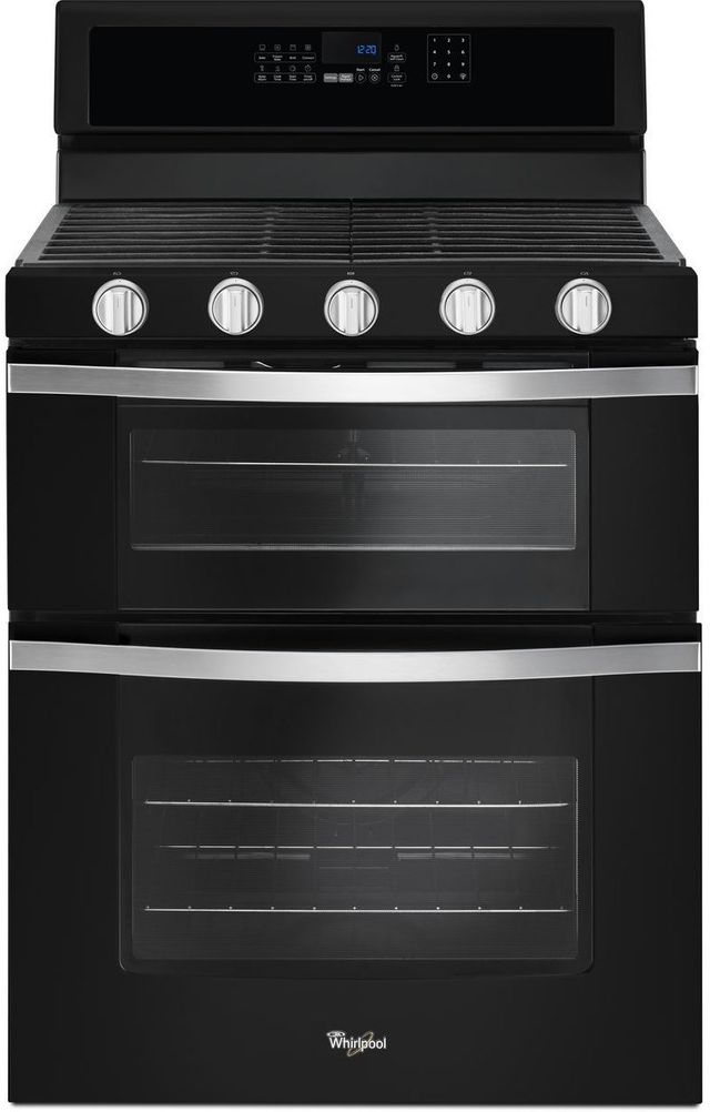 """Whirlpool® 30"""" Gas Built In Double Oven-Black Ice-WGG745S0FE"""