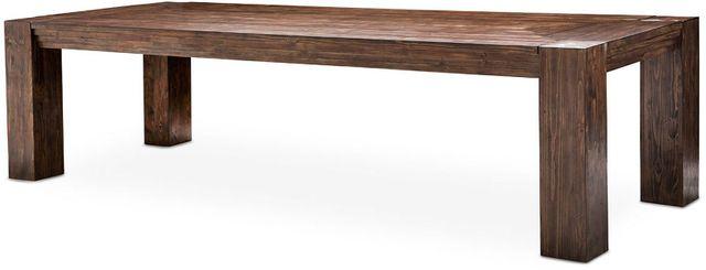 Michael Amini® Carrollton Rustic Ranch 4 Leg Rectangular Dining Table With 2 Leaves-KI-CRLN002-407