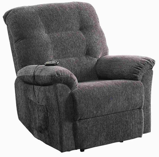 Coaster® Grey Upholstered Power Lift Recliner-601015