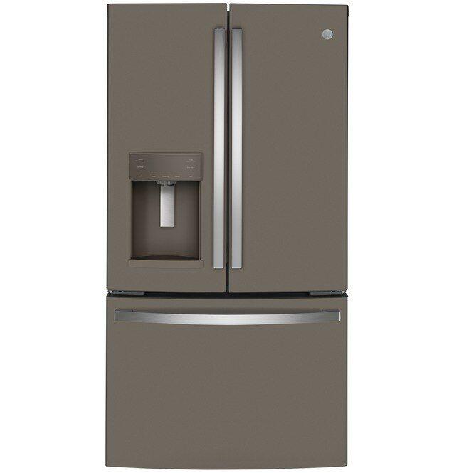 GE® 22.1 Cu. Ft. Slate Counter Depth French Door Refrigerator-GYE22GMNES