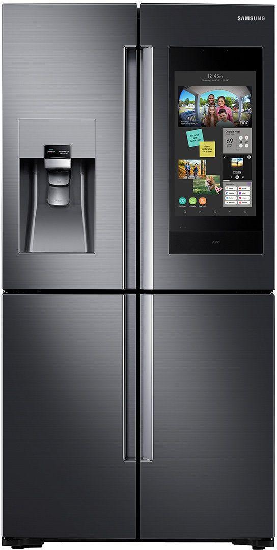 Samsung 22 Cu. Ft. Capacity Counter Depth Refrigerator-Fingerprint Resistant Black Stainless Steel-RF22N9781SG-RF22N9781SG