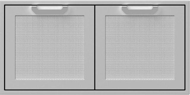 """Hestan Professional 42"""" Outdoor Double Storage Door-Stainless Steel-AGSD42"""