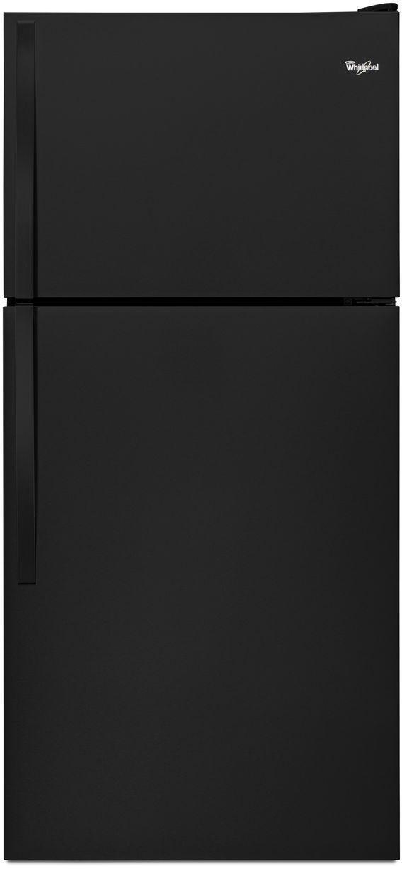 Whirlpool® 18.0 Cu. Ft. Top Freezer Refrigerator-Black-WRT138FZDB