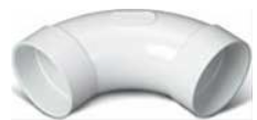 Broan® White 90° Sweep Elbow-V110