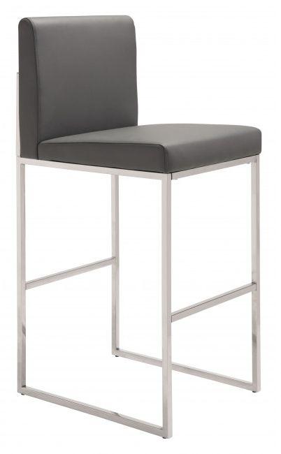 Zuo® Genoa Gray Barstool-100643
