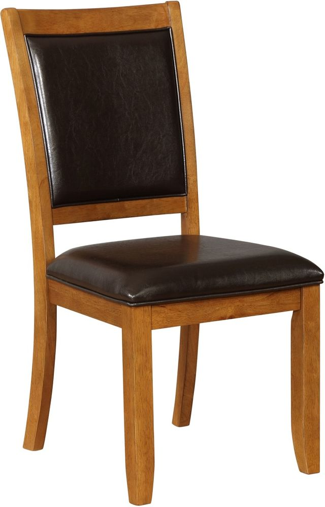Coaster® Lavon Nelms Deep Brown and Black Side Chair-102172