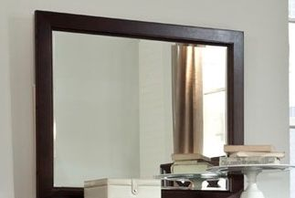 Durham Furniture Glen Terrace Nouveau Brown Vertical Frame Mirror-131-181