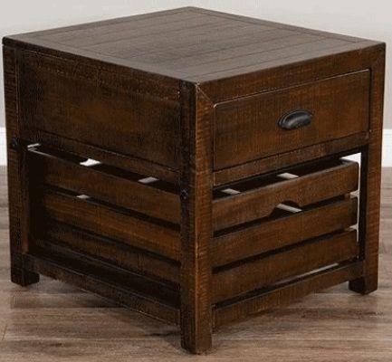 Sunny Designs Homestead Tobacco Leaf End Table-3266TL-E