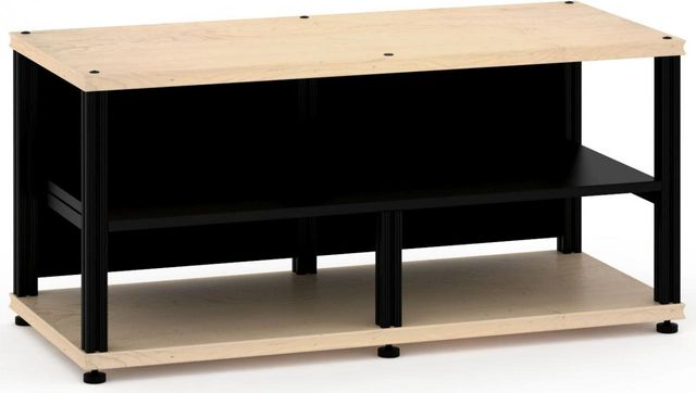 Salamander Designs® Synergy Open Center Twin 20 AV Cabinet-Natural Maple/Black-SNC20M/B