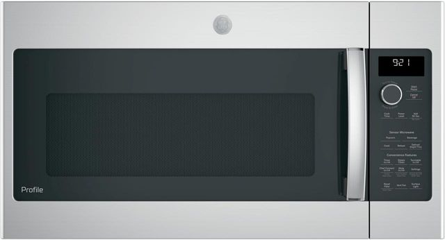 """GE Profile™ Series 29.75"""" Stainless Steel Over The Range Microwave-PNM9216SKSS"""