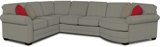 England Furniture Co. Brantley 4 Piece Culpepper Cement/Alvarado Mineral/Wise Tweed Sectional-5630-28-22-43-95+8612+8172+8601