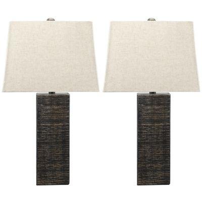 Signature Design by Ashley® Mahak Set of 2 Black Table Lamps-L327214