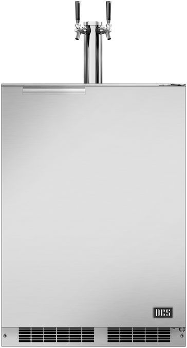 "DCS 23.88"" Brushed Stainless Steel Outdoor Beer Dispenser-RF24BTR1"
