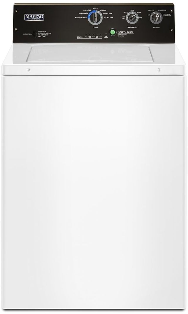 Maytag Commercial® 3.5 Cu. Ft. White Top Load Washer-MVWP575GW