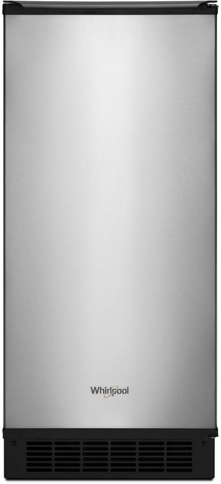 """Whirlpool® 15"""" Stainless Steel Ice Maker-WUI75X15HZ"""