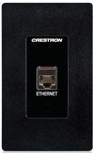 Crestron® Media Presentation Wall Plate-Black-MP-WP183-B