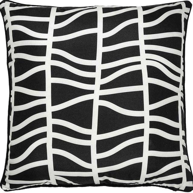 Coussin d'extérieur Fieldfare, noir et blanc, Renwil®-PWFLO1001