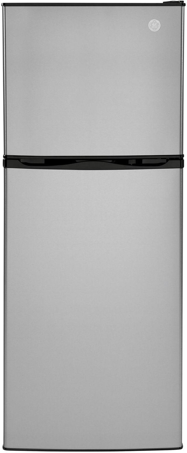 GE® 9.93 Cu. Ft. Stainless Steel Top Freezer Refrigerator-GPV10FSNSB