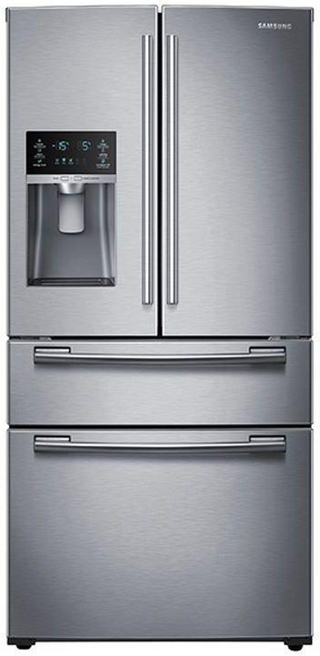 Samsung 25 Cu. Ft. 4-Door French Door Refrigerator-Stainless Steel-RF25HMEDBSR