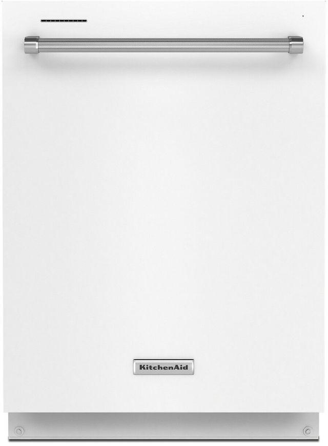 "KitchenAid® 24"" White Built In Dishwasher-KDTE204KWH"