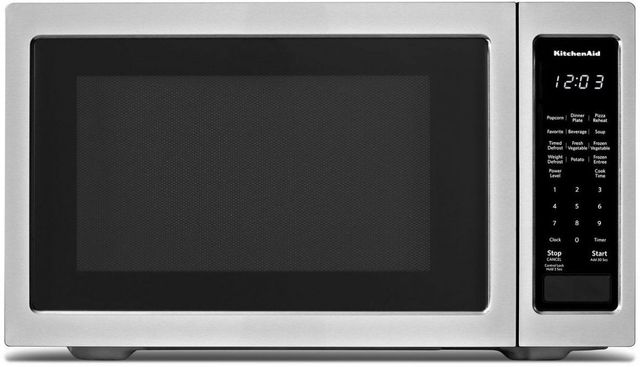 KitchenAid® 1.6 Cu. Ft. Stainless Steel Countertop Microwave Oven-KMCS1016GSS
