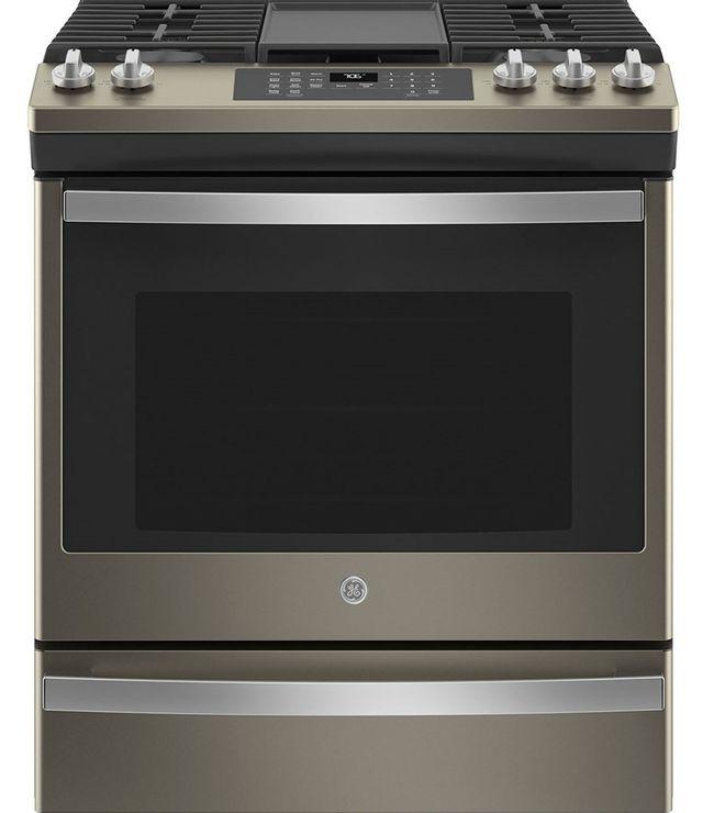 Cuisinière au gaz encastrée GE® de 5,6 pi³ de 30 po - Ardoise-JCGS760EPES