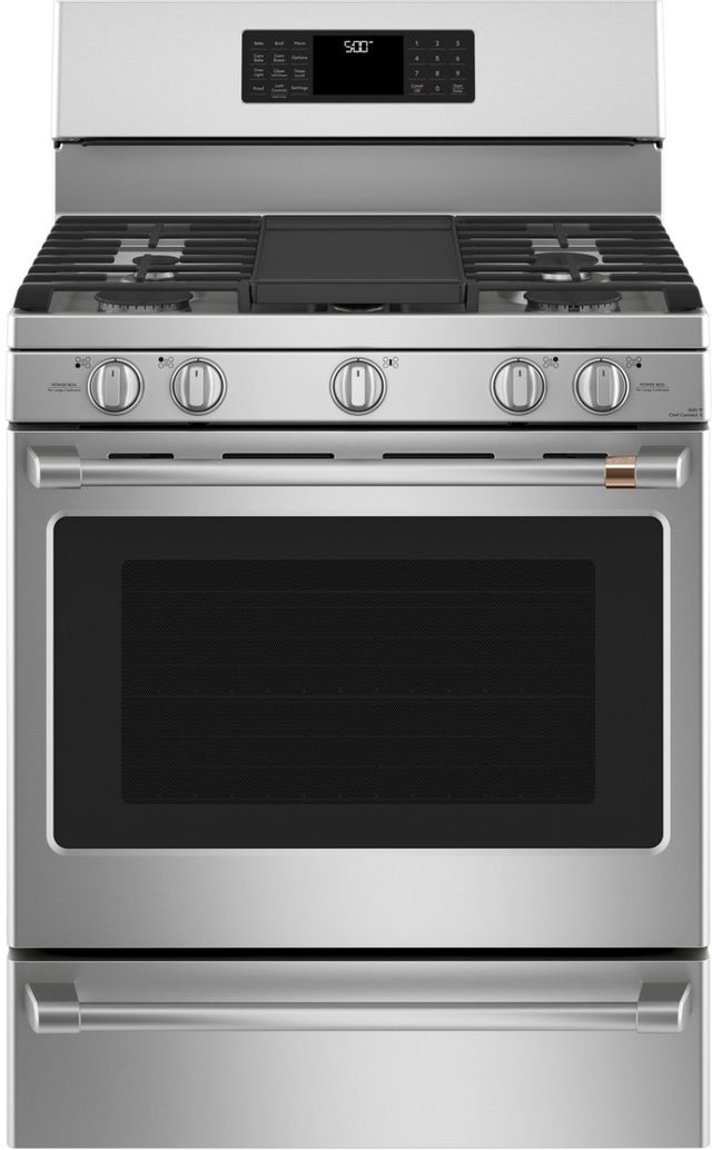 """Café™ 30"""" Stainless Steel Free Standing Gas Range-CGB500P2MS1"""