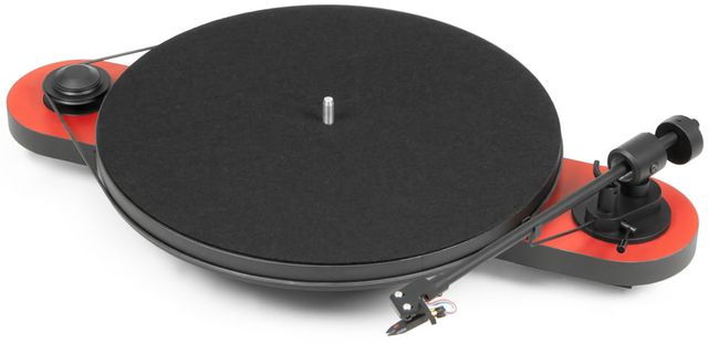 Pro-Ject Manual Turntable-Red/Black-Elemental-RD