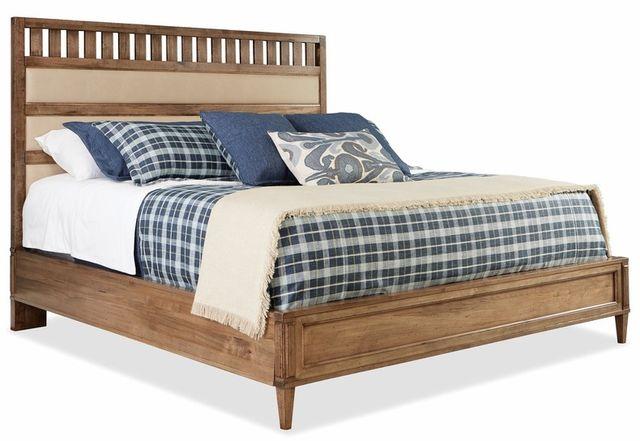 Durham Furniture Escarpment Desert Sand High Upholstered Bed King-181-146