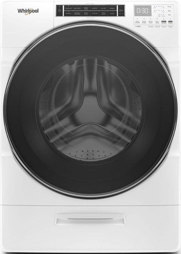 Whirlpool® 5.0 Cu. Ft. White Front Load Washer-WFW8620HW