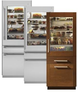 Monogram® 14.9 Cu. Ft. Fully Integrated Glass-Door Built In Refrigerator-Panel Ready-ZIK30GNZII