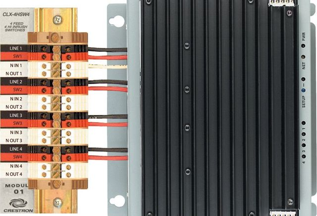 Crestron® 4 Channel High-Inrush Switch Module-CLX-4HSW4