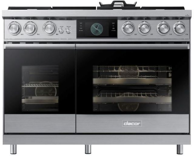 """Dacor® Contemporary 48"""" Stainless Steel Pro Dual-Fuel Steam Range-DOP48M96DLS"""