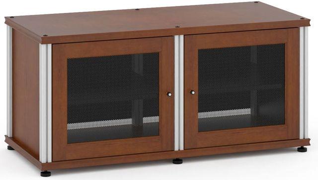 Salamander Designs® Synergy Model 221 AV Cabinet-Dark Cherry/Aluminum-SB221C/A