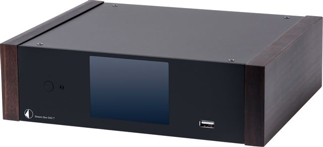 Pro-Ject Stream Box DS2T Black Preamplifier with Eucalyptus Wooden Side Panels-Stream Box DS2 T-BL-EC
