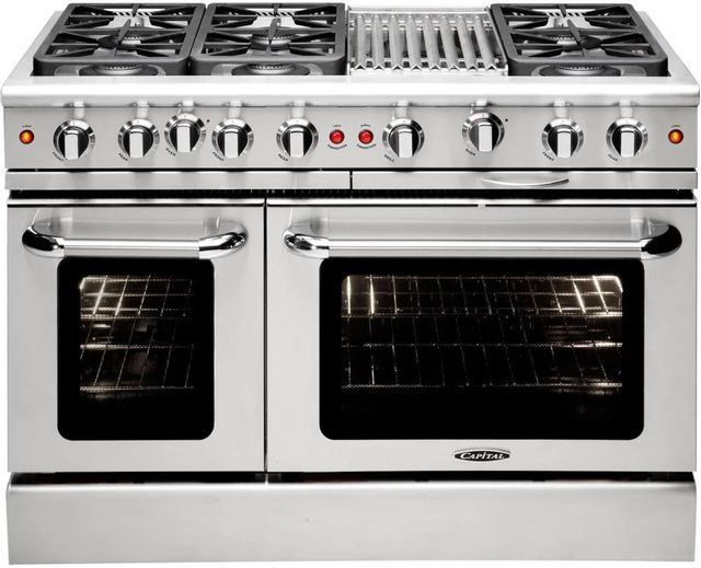 """Capital Precision™ 48"""" Stainless Steel Free Standing Gas Range-MCR486BN"""
